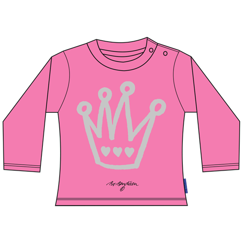 PRINCESS CROWN PINK BLUSE