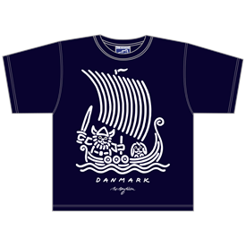 VIKING SHIP NAVY T-SHIRT