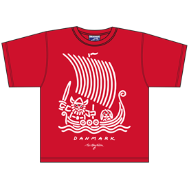 VIKING SHIP RØD T-SHIRT