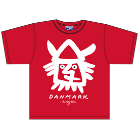 VIKING HEAD RØD T-SHIRT