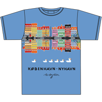 NYHAVN REFLECTION BLÅ T-SHIRT