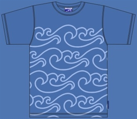 NORTH SEA BLÅ T-SHIRT